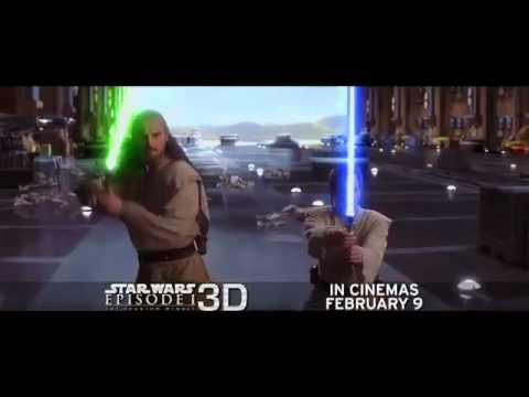"Spot televisivo de ""Star Wars: Episode I: The Phantom Menace 3D"""