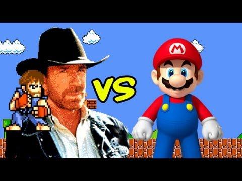 Chuck Norris vs Super Mario Bros.