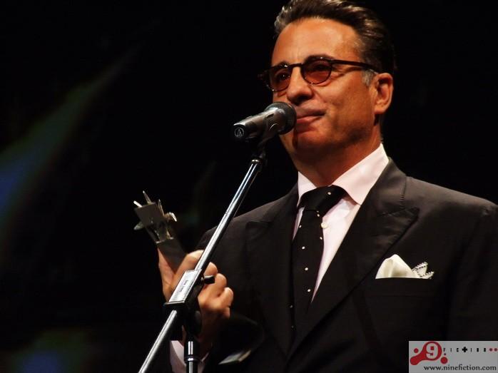 Andy García recibiendo el Premio Mayahuel