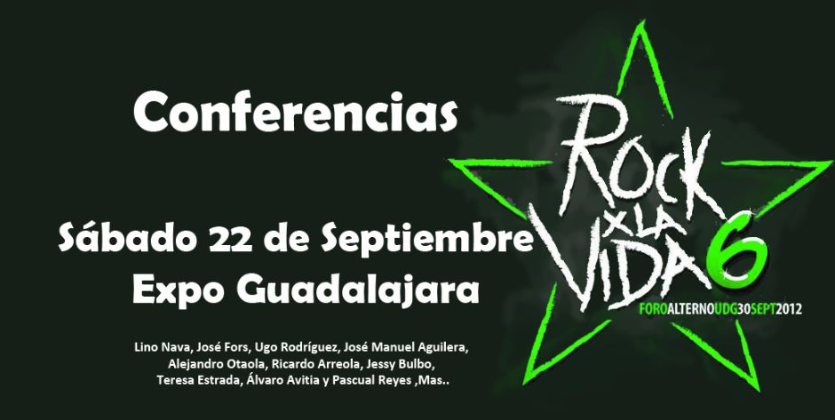 Conferencias Rock x la vida 2012