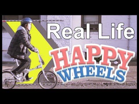 """Humor: El juego Flash """"Happy Wheels"""", pero en la vida real"""