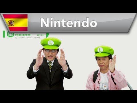 Miyamoto e Iwata festejan a Luigi de una manera muy especial