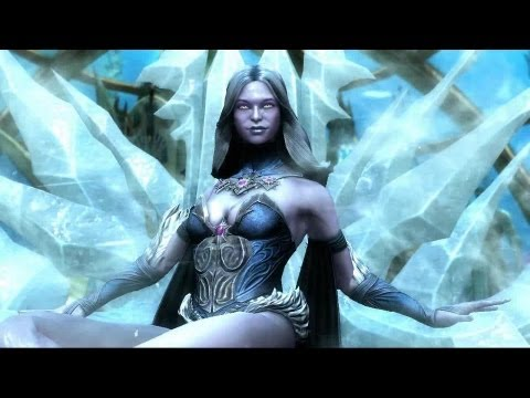 Injustice: Gods Among Us – Gameplay de Killer Frost vs Ares