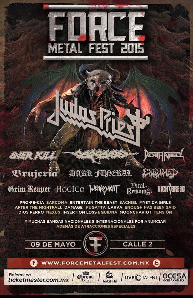 01 Force Metal Fest 2015 - Judas Priest - Over Kill - Nine Fiction