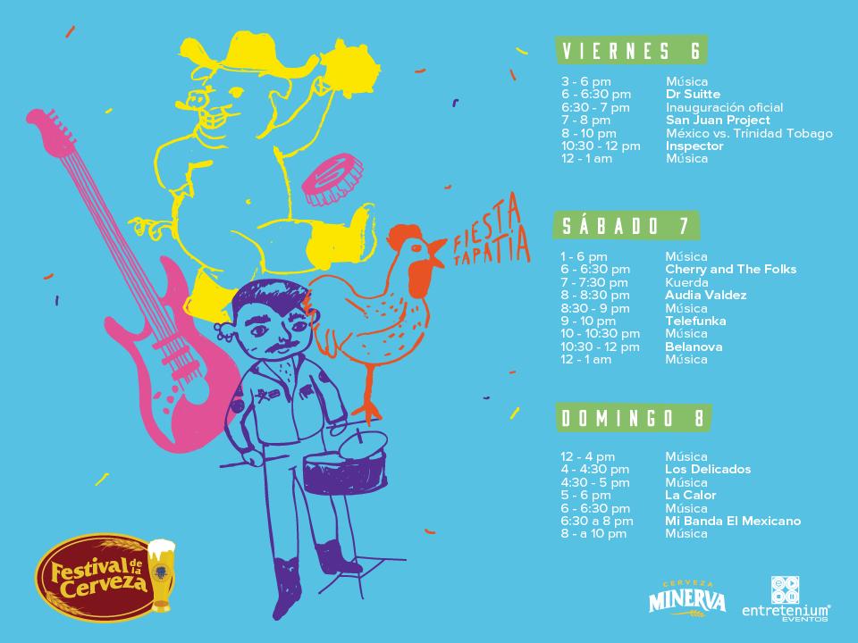 Horarios Line Up - Festival de la cerveza 2017 - Nine Fiction