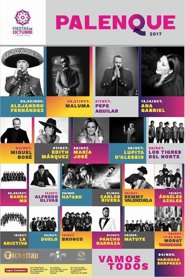 Cartelera Panelnque fiestas de octubre guadalajara 2018 - Nine Fiction