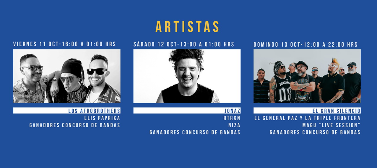 Line UP - artistas festival de la cerveza 2019 - Guadalajara - Nine Fiction 00