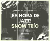 ¡Vuelve #JazzStream! con Snow Trío, desde SoundTube Multimedia Studios